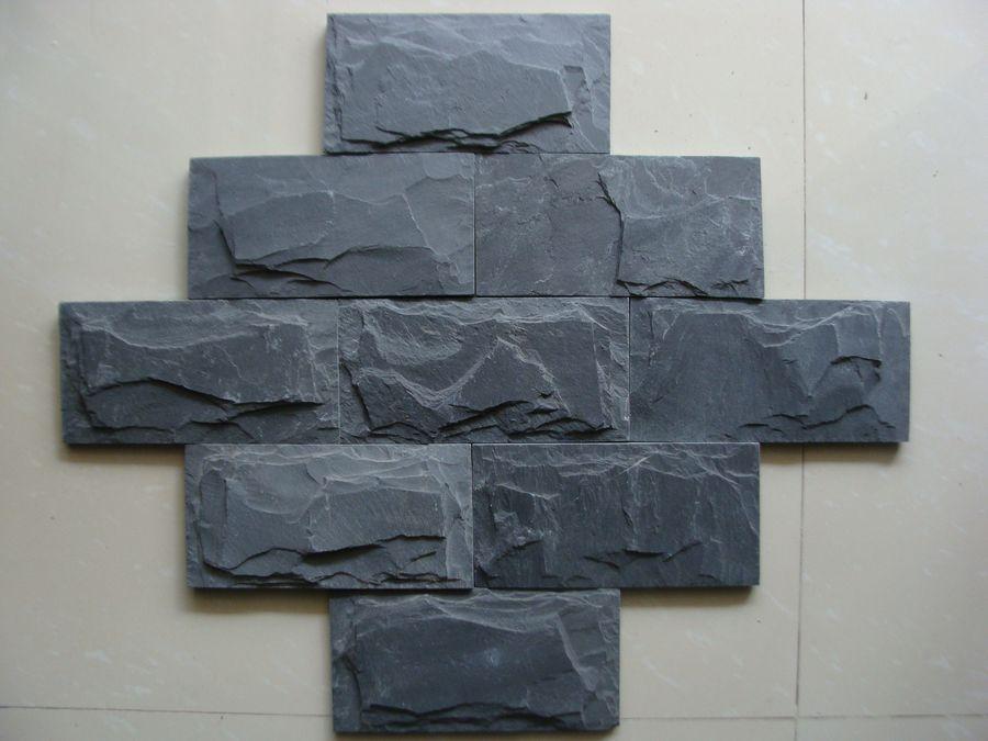 天然板岩文化石青石板組合板庭院外牆文化牆背景牆組合石板 2