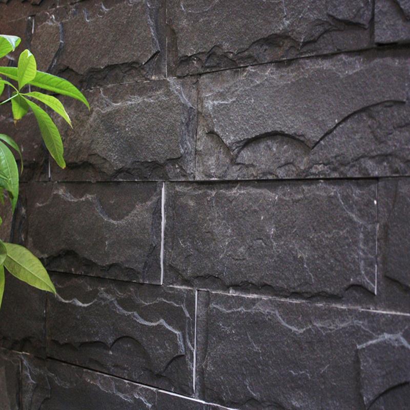 天然板岩文化石青石板組合板庭院外牆文化牆背景牆組合石板 3