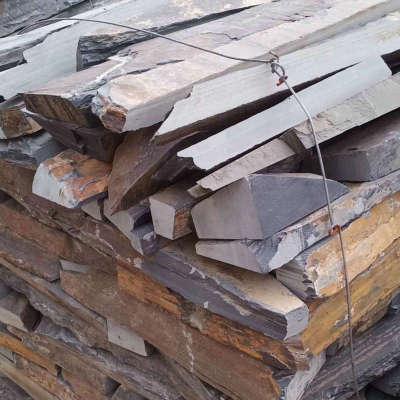 不規則亂邊毛邊條石材 天然板岩文化青石板 亂條庭院花園花池壁爐 2