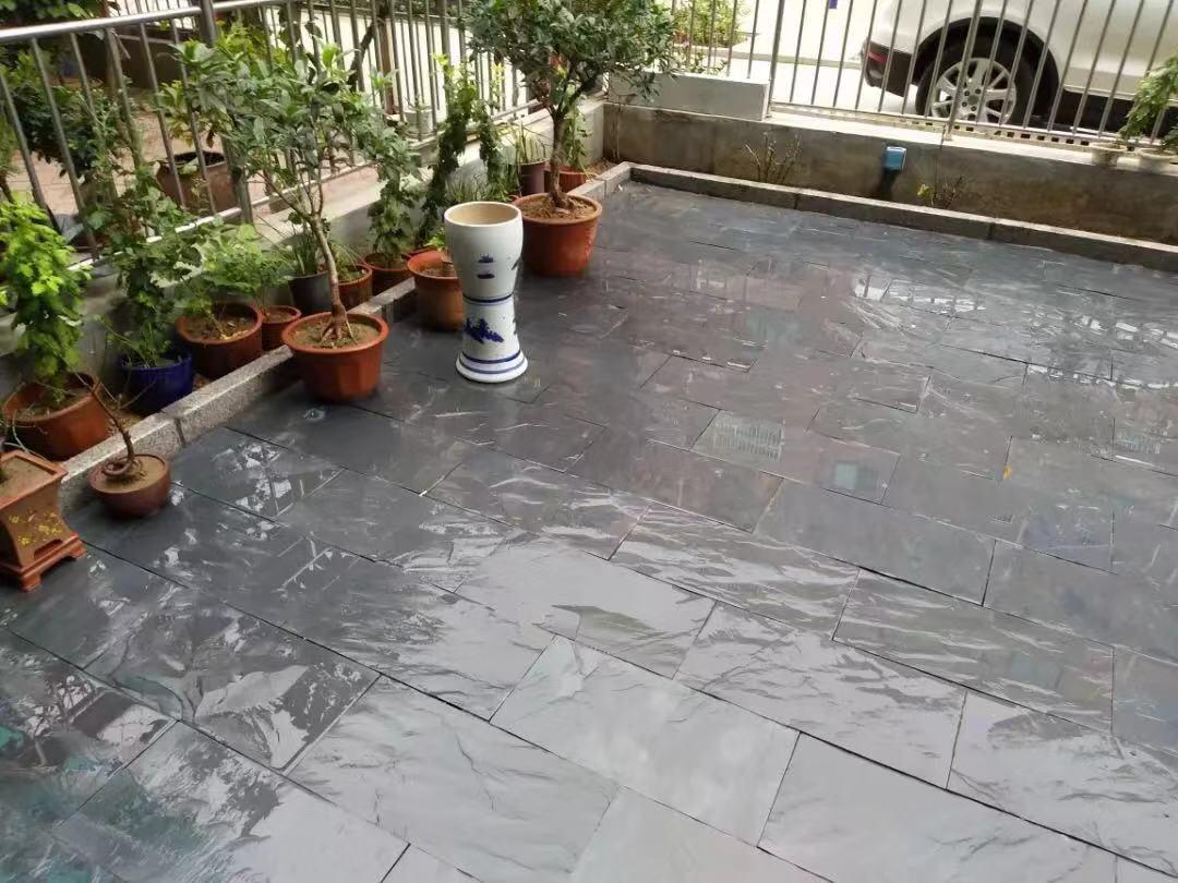 黑色板岩鋪地板批發   3