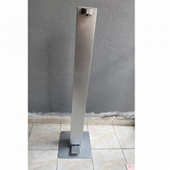 Standing Stainless Steel Foot Operated Pedal Hand Sanitizer Liquid Dispenser