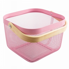 Essentials Metal cube Wire Baskets with Handle suitable for all of your gifting