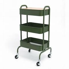 3 tiers  storage organizer  utility cart Custom kitchen metal rolling craft