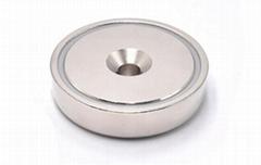 Countersunk Hole Pot Magnet of NdFeB