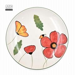 10.5 inch ceramic dinnerware dinner plate