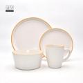 Colorful ceramic matte finish 16pcs dinnerware set stoneware 5