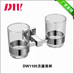 SU304 stainless steel double cup holder for toothbrush