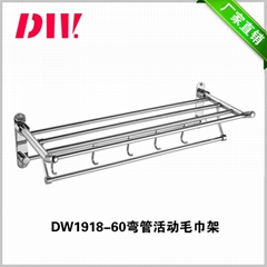 SUS 304 Stainless Steel Double Layer Folded Bath Towel Frame Rack