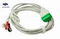GE 3 Lead ECG Cable with Leadwires, Snap, AHA