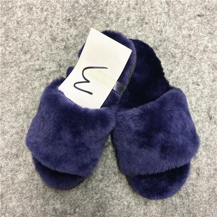 Fashionable High Quality fur wool slippers cotton slippers wool felt shoes - sli 3