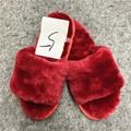 Fashionable High Quality fur wool slippers cotton slippers wool felt shoes - sli 4