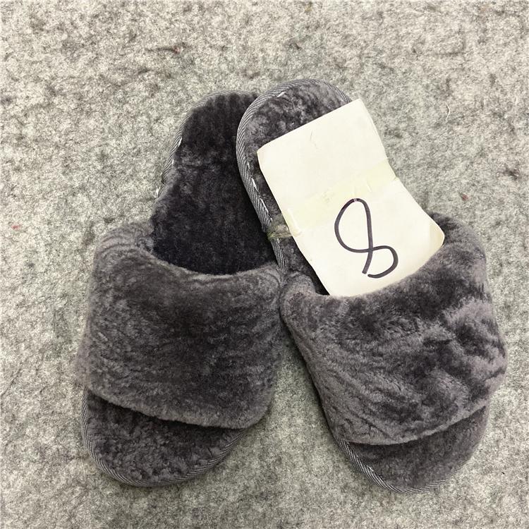 Fashionable High Quality fur wool slippers cotton slippers wool felt shoes - sli 5