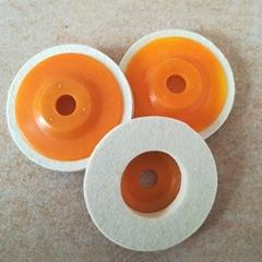 Durable 100% Wool Felt Polishing Bobs Soft Grinding Wheels