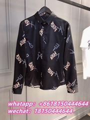 The new Burberry shirt Burberry blouse Burberry Men's shirt Top quality 1:1