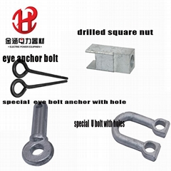 Special U Bolt Drilled Nuts Eye Bolts Anchors