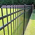 Powder Coated metal fence steel palisade fence designs