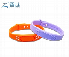 Adjustable 13.56Mhz RFID Silicone Wristband M1 Chip