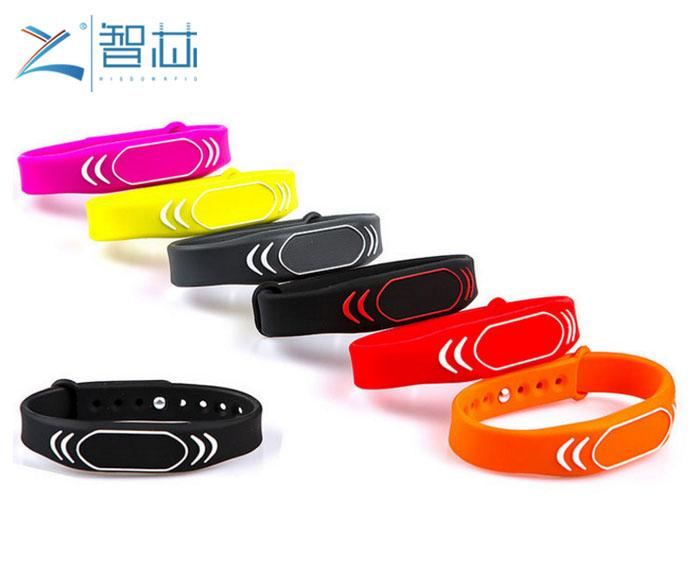 Adjustable 13.56Mhz RFID Silicone Wristband M1 Chip  3