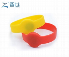Closed Round Head 125khz LF Swimming Pool RFID Wristband