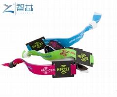 Festival Event Access Control Wove NFC Bracelet Mifare Wristband