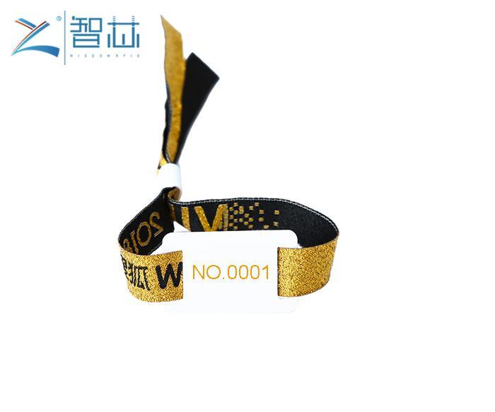 Disposable TK4100 LF Proximity RFID Woven Wristband 1