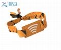 Disposable TK4100 LF Proximity RFID Woven Wristband 2