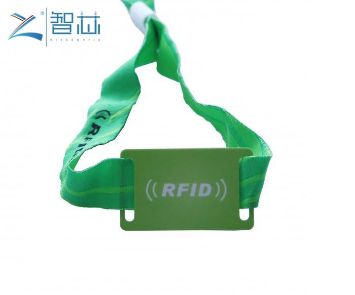 Disposable TK4100 LF Proximity RFID Woven Wristband 3