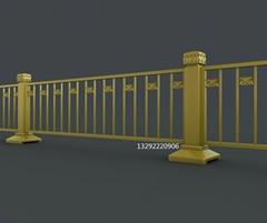 廠家直銷北京長安街金色護欄 市政道路隔離黃金護欄