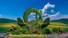 绿雕草雕装饰设计制作