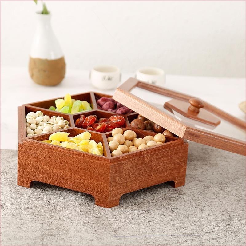 新款茶叶盒便携式胡桃木盒抽拉翻盖磁铁木盒 1
