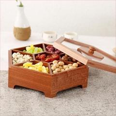 新款茶叶盒便携式胡桃木盒抽拉翻盖磁铁木盒
