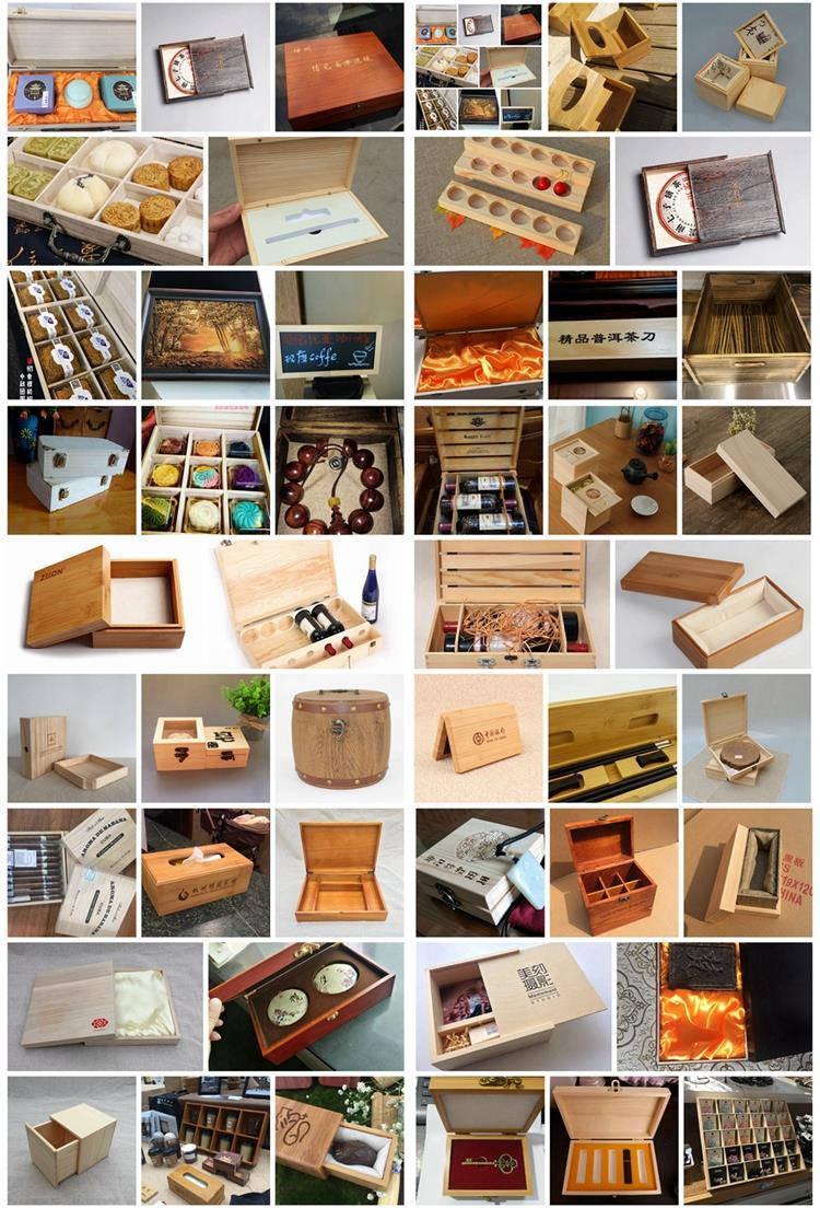 新款茶叶盒便携式胡桃木盒抽拉翻盖磁铁木盒 5