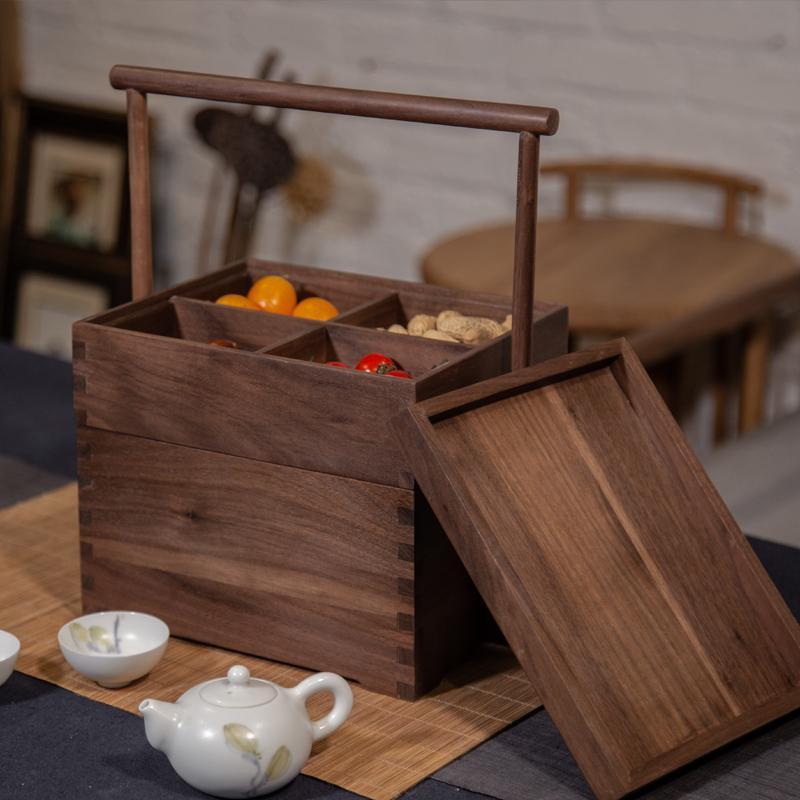 中式食盒定制手提木盒实木多层收纳盒 1