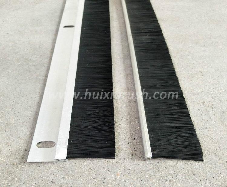 Aluminum profile door bottom nylon bristle brush strip  4