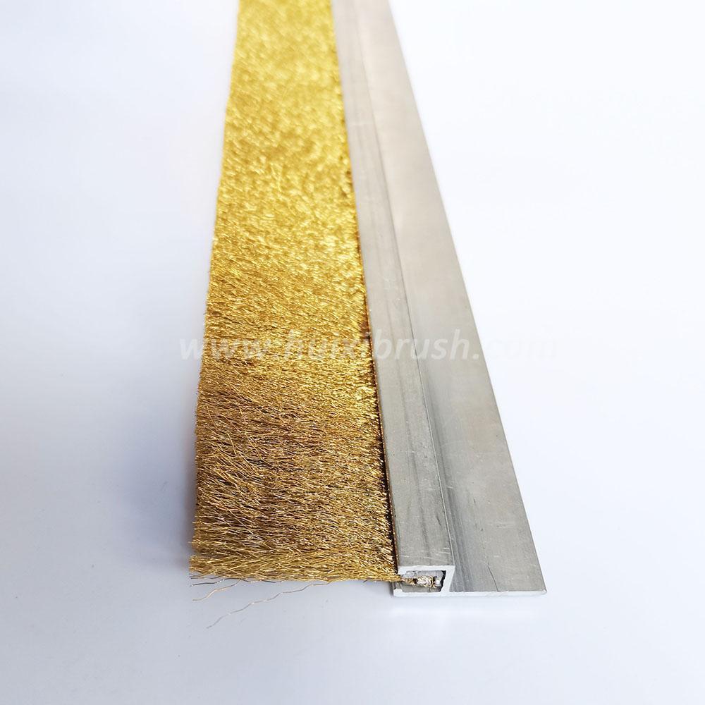 Crimped Brass Copper Wire Strip Brush 1