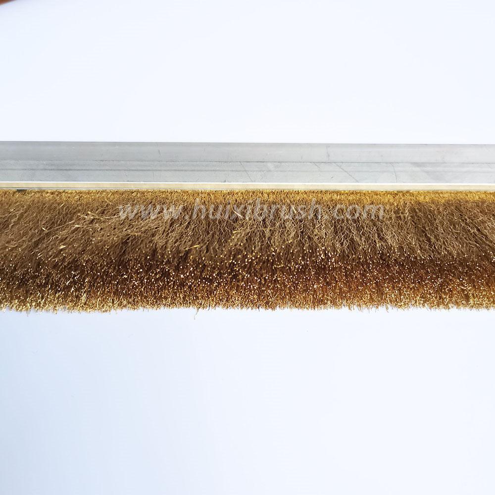 Crimped Brass Copper Wire Strip Brush 2