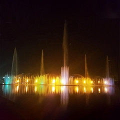 Music Dancing Large Outdoor Water and Fire Fountain for Lake