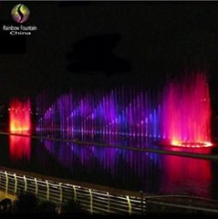 2015 Outdoor Water Feature Large Lake Music Dancing Fountain in China