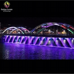 2016 China Rainbow Bridge Digital Water Curtain Fountain