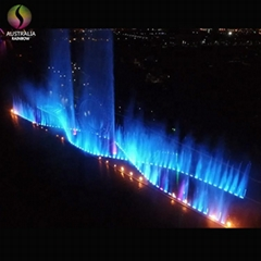 DMX Control Digital Dancing Water Large Music Fountain For Celebration