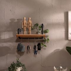 Industrial Pipe Floating Wall Shelf