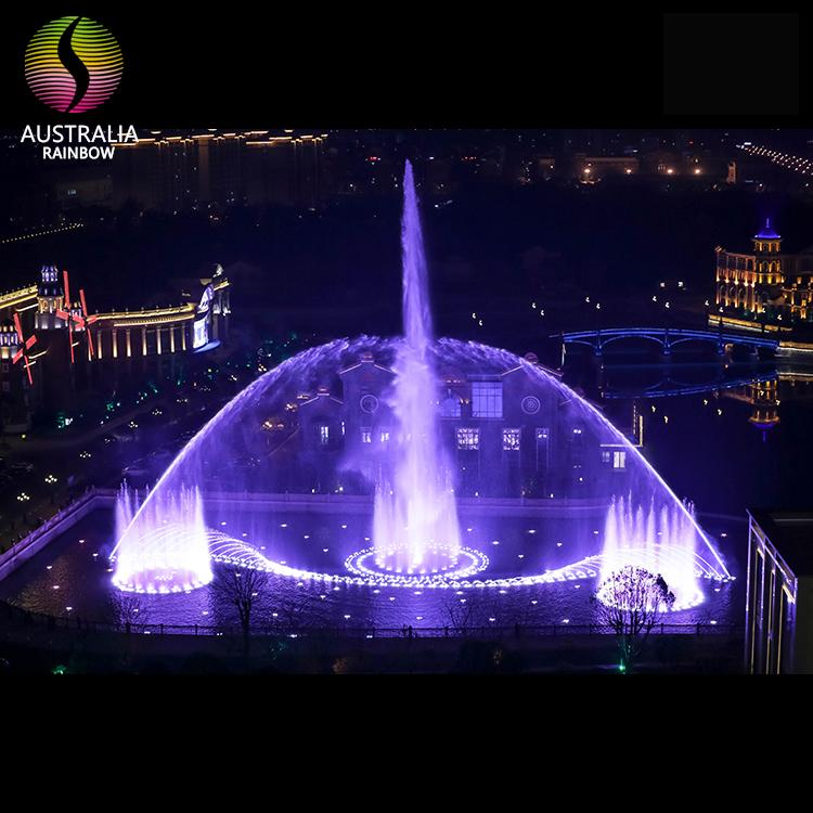 Outdoor 1D 2D 3D Water Music Dancing Fountain with DMX 512 LED Light Show 1
