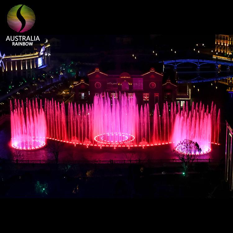 Outdoor 1D 2D 3D Water Music Dancing Fountain with DMX 512 LED Light Show 2