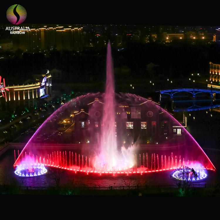 Outdoor 1D 2D 3D Water Music Dancing Fountain with DMX 512 LED Light Show 5