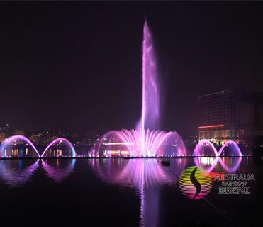 Lake Floating Music Dancing Water Fountain with Color Changing LED Lights  4