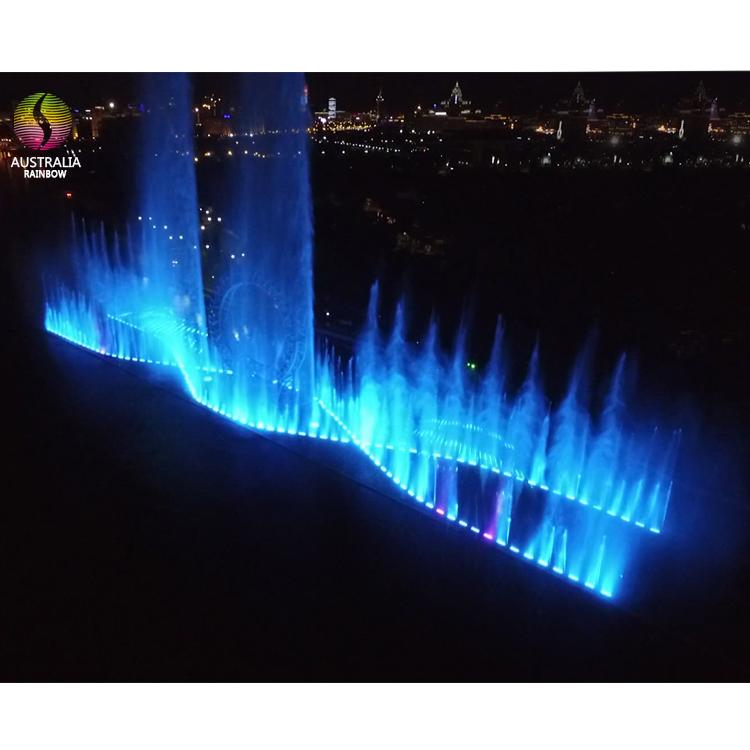 Outdoor Large Scale Multimedia Colorful Lights Dancing Fountain Floating in Lake 3