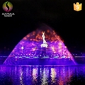 Large Outdoor Customized Water Dancing Musical Fountain with LED Light Holograph 3