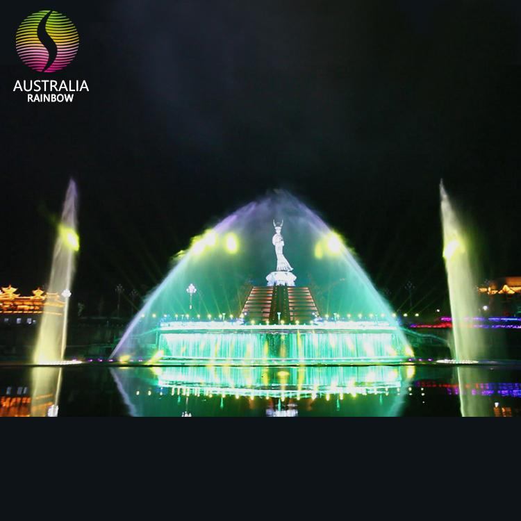 Large Outdoor Customized Water Dancing Musical Fountain with LED Light Holograph 4