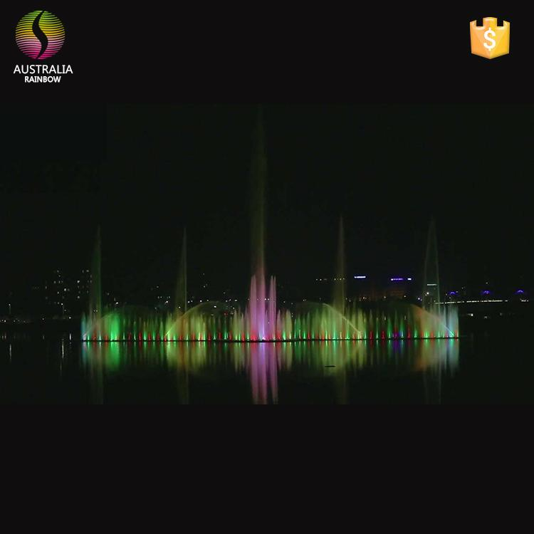 New Customized Design and Construction Floating Music Water Fountain 2