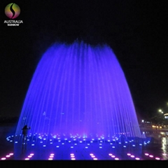 Hidden in Ground Pool Dry Fountain with Music and Colorful LED Lights